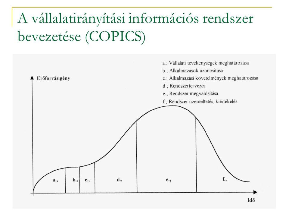A vállalatirányítási információs rendszer bevezetése (COPICS)