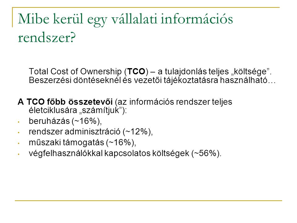 Mibe kerül egy vállalati információs rendszer