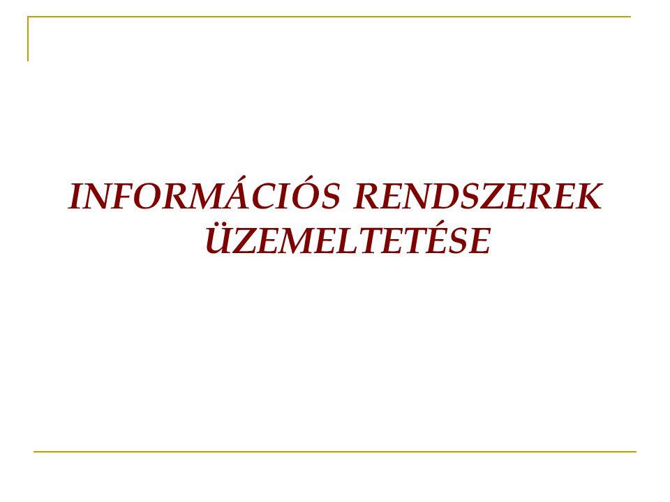 INFORMÁCIÓS RENDSZEREK ÜZEMELTETÉSE