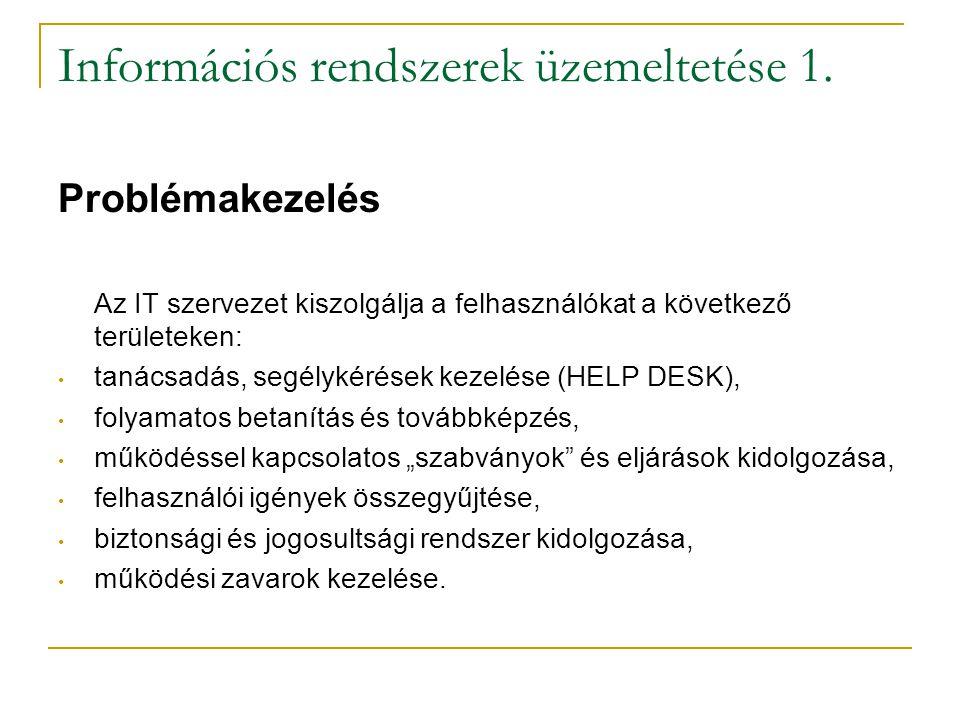 Információs rendszerek üzemeltetése 1.