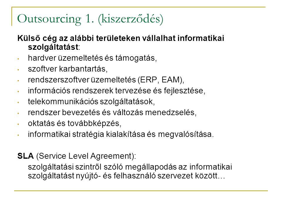 Outsourcing 1. (kiszerződés)