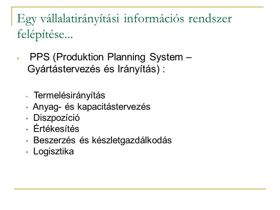Egy vállalatirányítási információs rendszer felépítése...