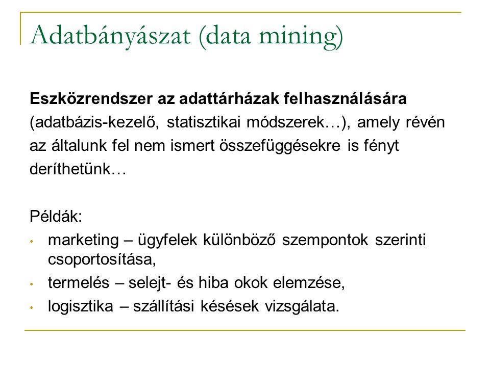 Adatbányászat (data mining)