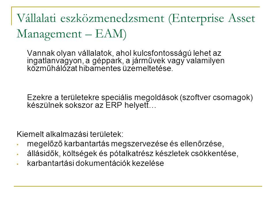 Vállalati eszközmenedzsment (Enterprise Asset Management – EAM)
