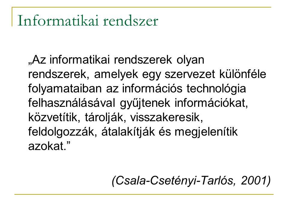 Informatikai rendszer