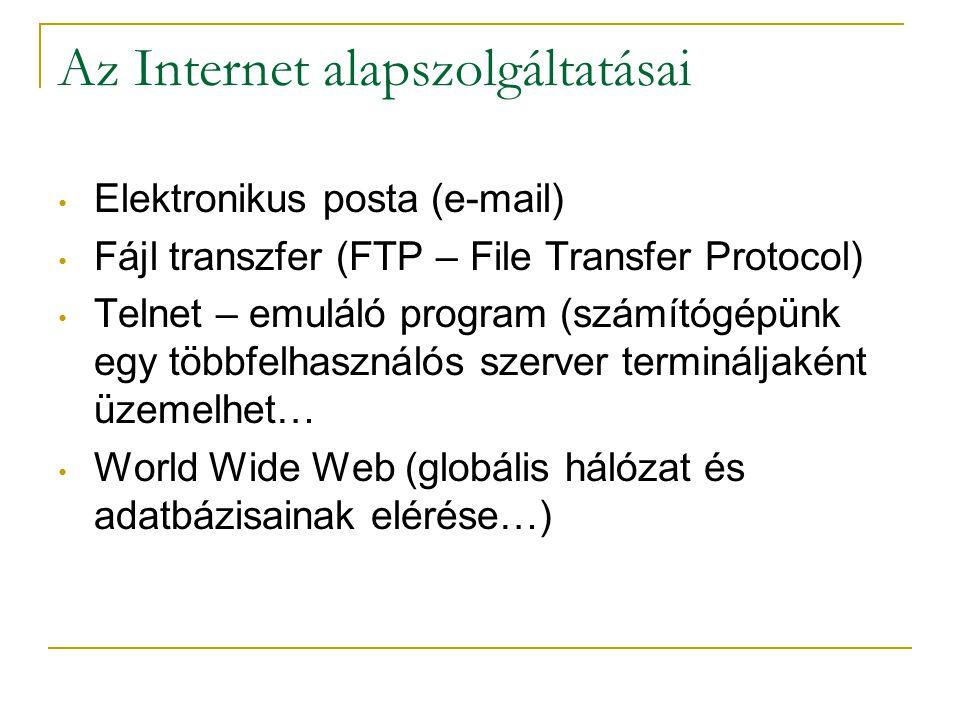 Az Internet alapszolgáltatásai