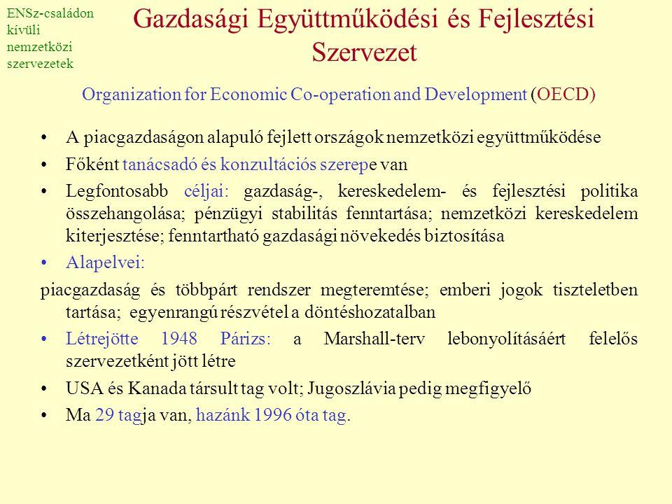 Gazdasági Együttműködési és Fejlesztési Szervezet