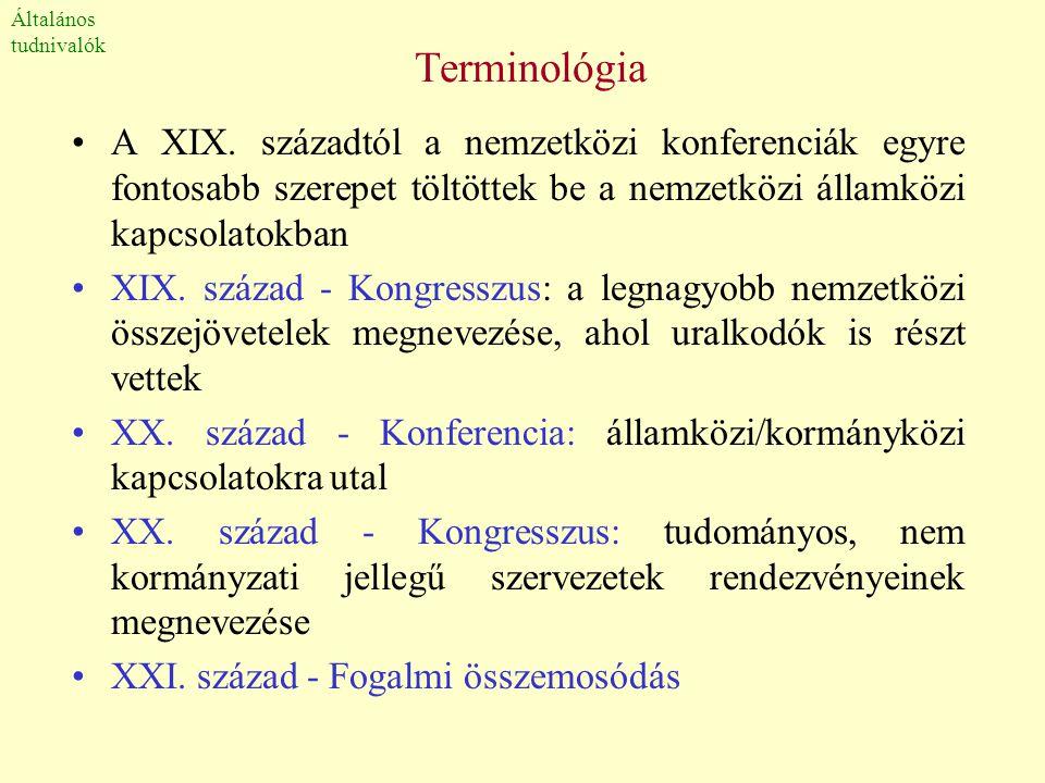 Általános tudnivalók. Terminológia.