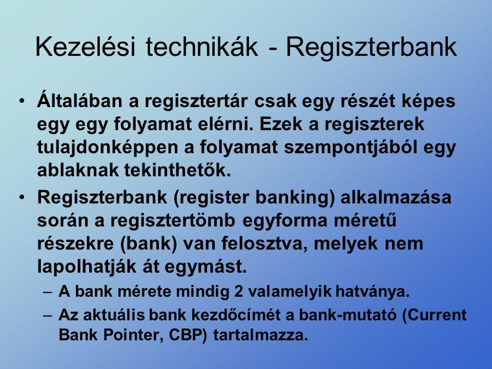 Kezelési technikák - Regiszterbank