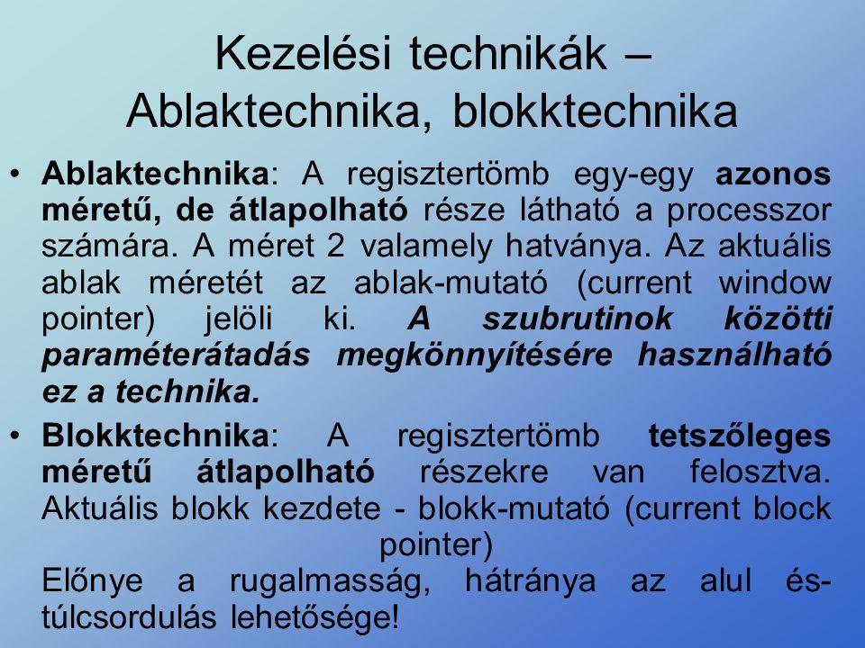 Kezelési technikák – Ablaktechnika, blokktechnika