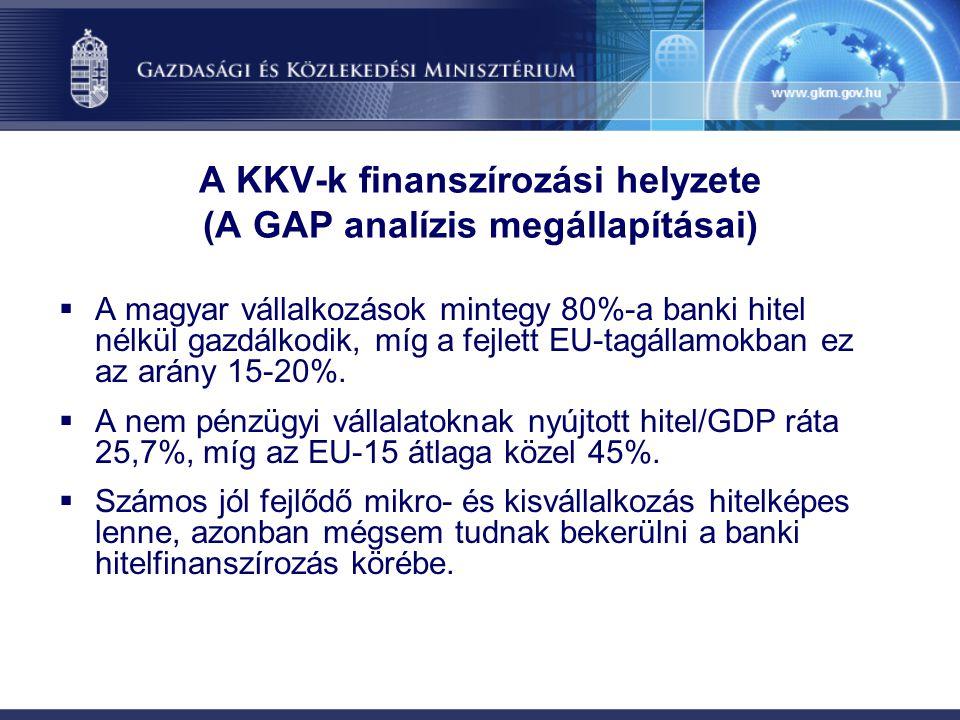 A KKV-k finanszírozási helyzete (A GAP analízis megállapításai)