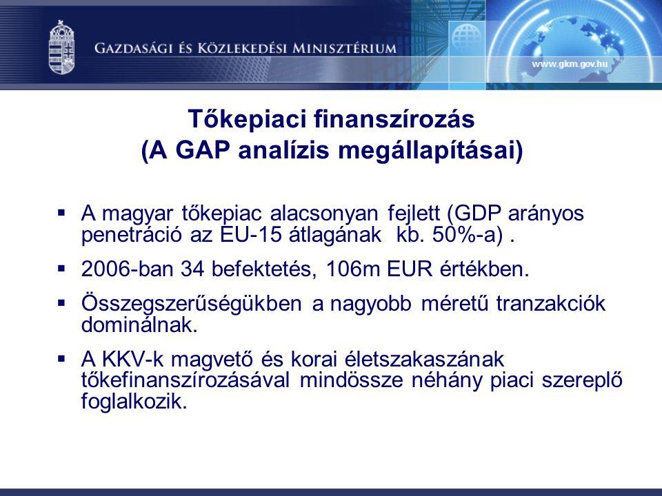 Tőkepiaci finanszírozás (A GAP analízis megállapításai)