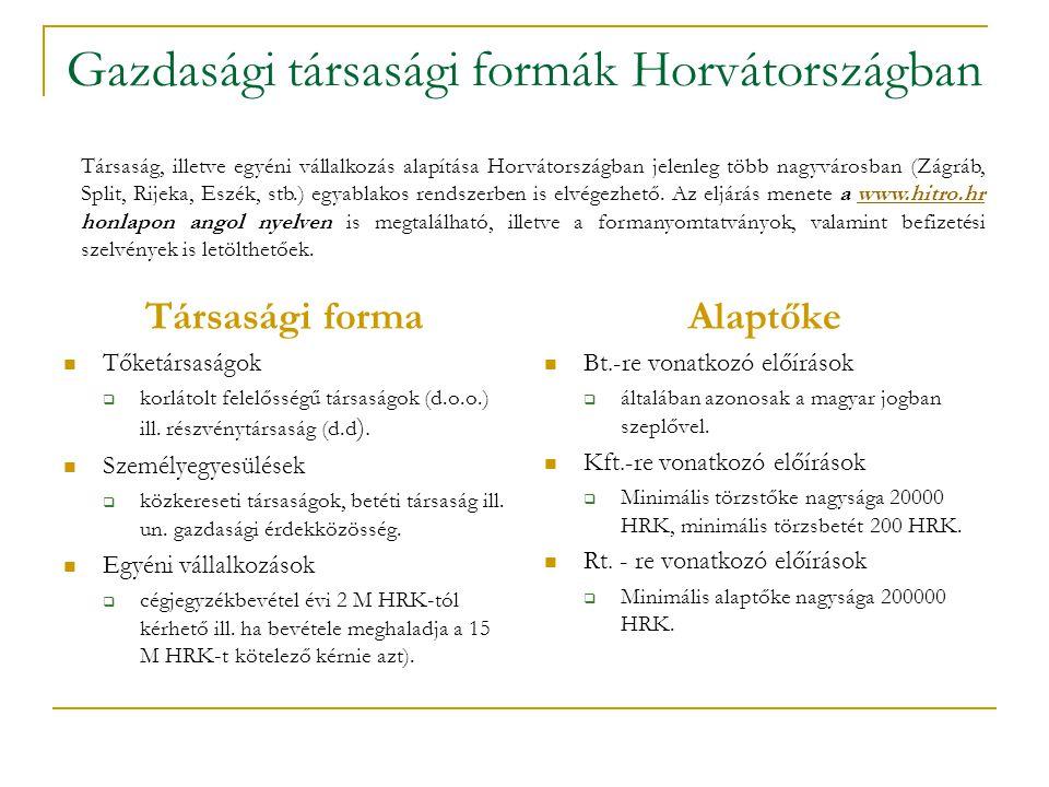 Gazdasági társasági formák Horvátországban