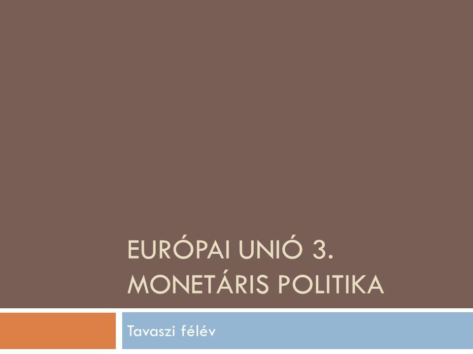 Európai Unió 3. Monetáris politika
