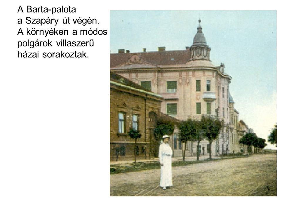 A Barta-palota a Szapáry út végén