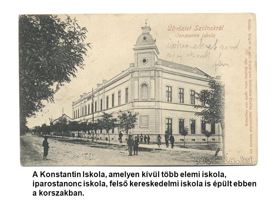 A Konstantin Iskola, amelyen kívül több elemi iskola,