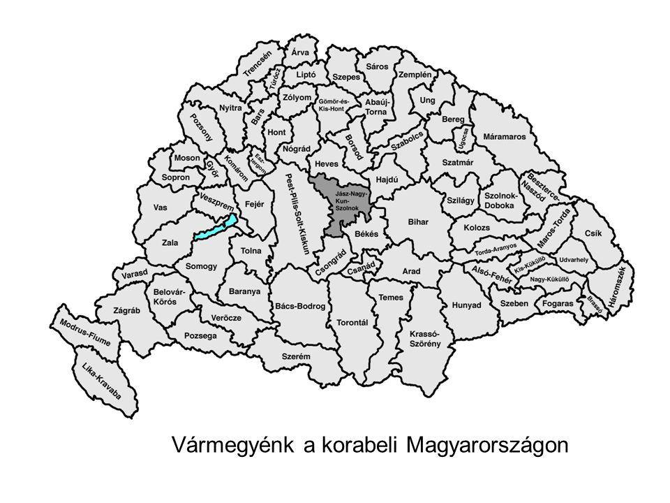 Vármegyénk a korabeli Magyarországon
