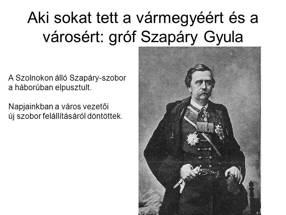 Aki sokat tett a vármegyéért és a városért: gróf Szapáry Gyula