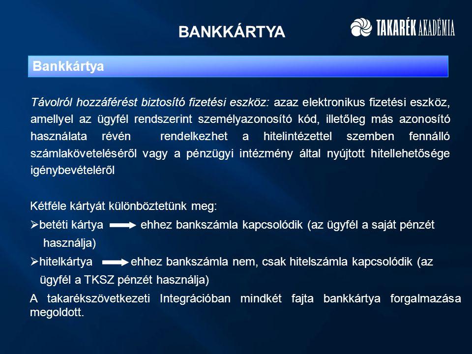 BANKKÁRTYA Bankkártya