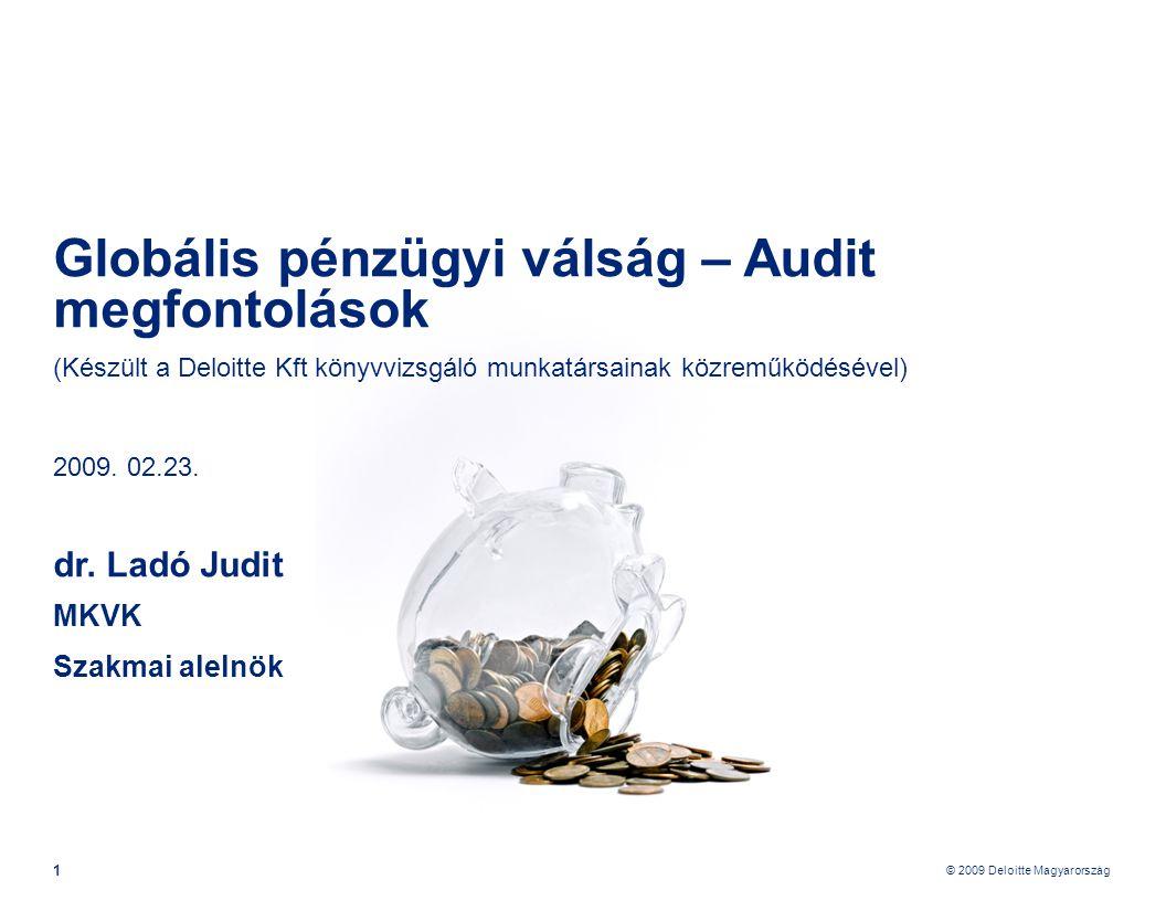 Globális pénzügyi válság – Audit megfontolások