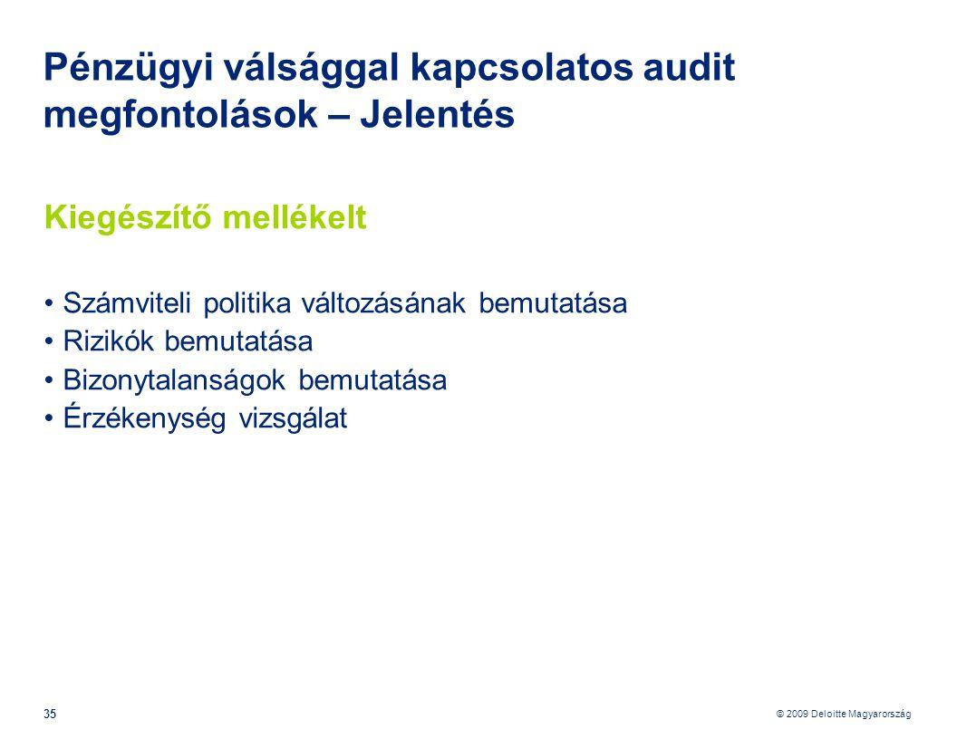 Pénzügyi válsággal kapcsolatos audit megfontolások – Jelentés