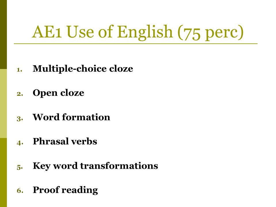 AE1 Use of English (75 perc)