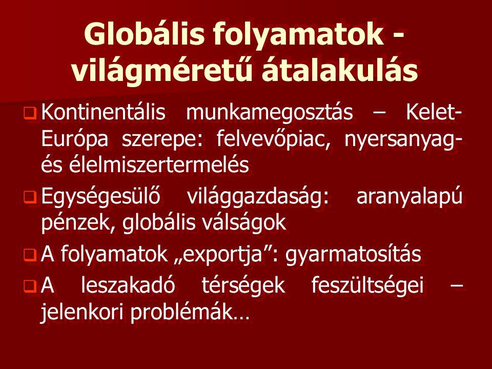 Globális folyamatok - világméretű átalakulás