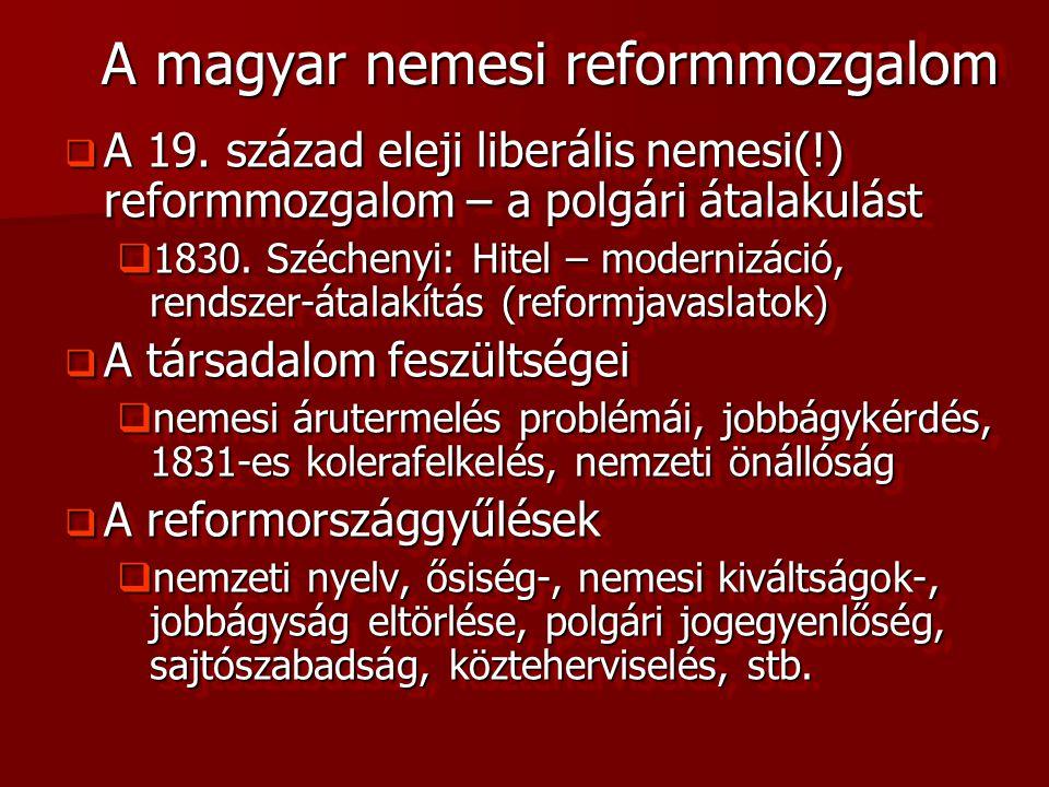 A magyar nemesi reformmozgalom