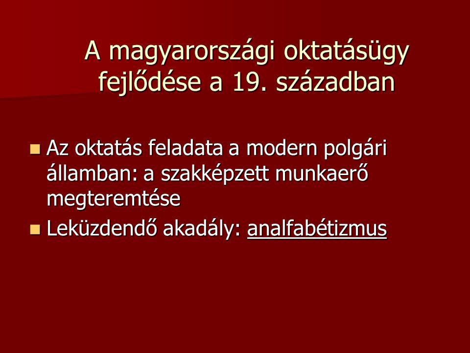 A magyarországi oktatásügy fejlődése a 19. században