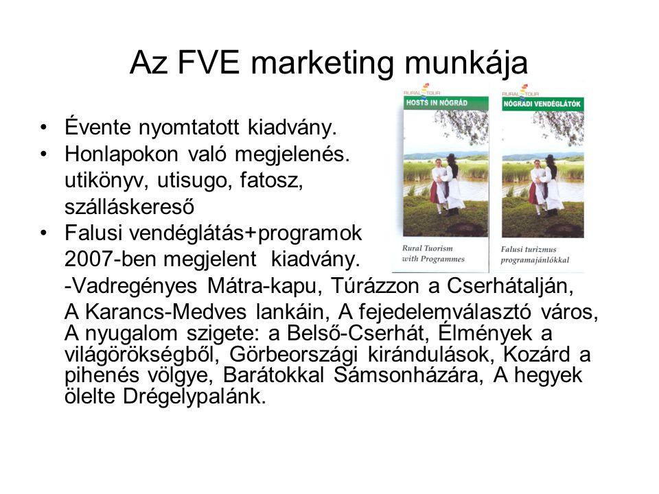 Az FVE marketing munkája