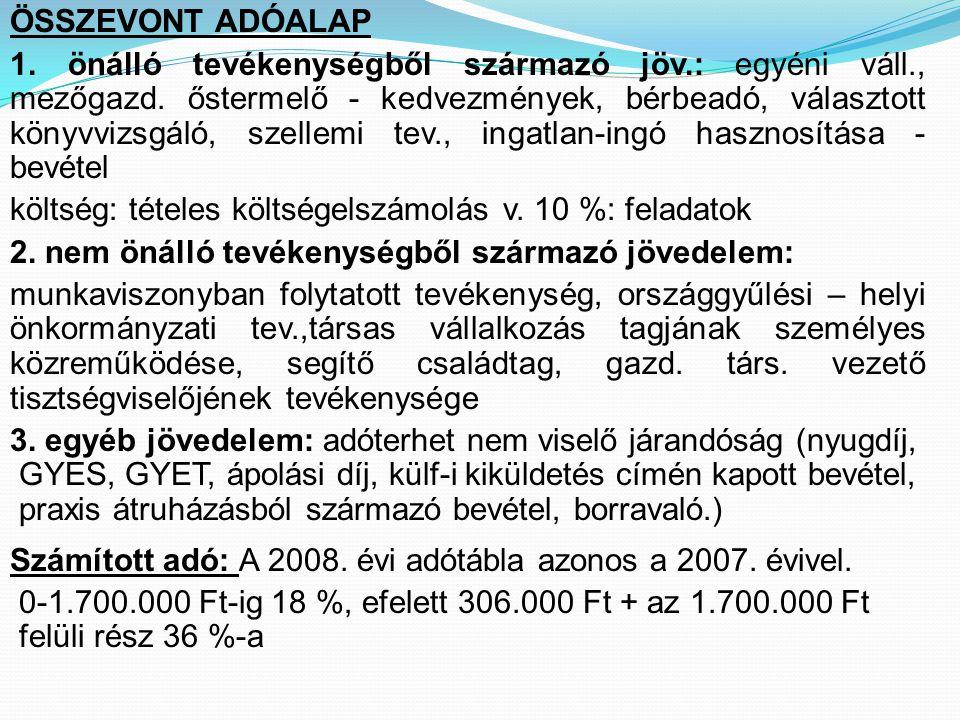 ÖSSZEVONT ADÓALAP
