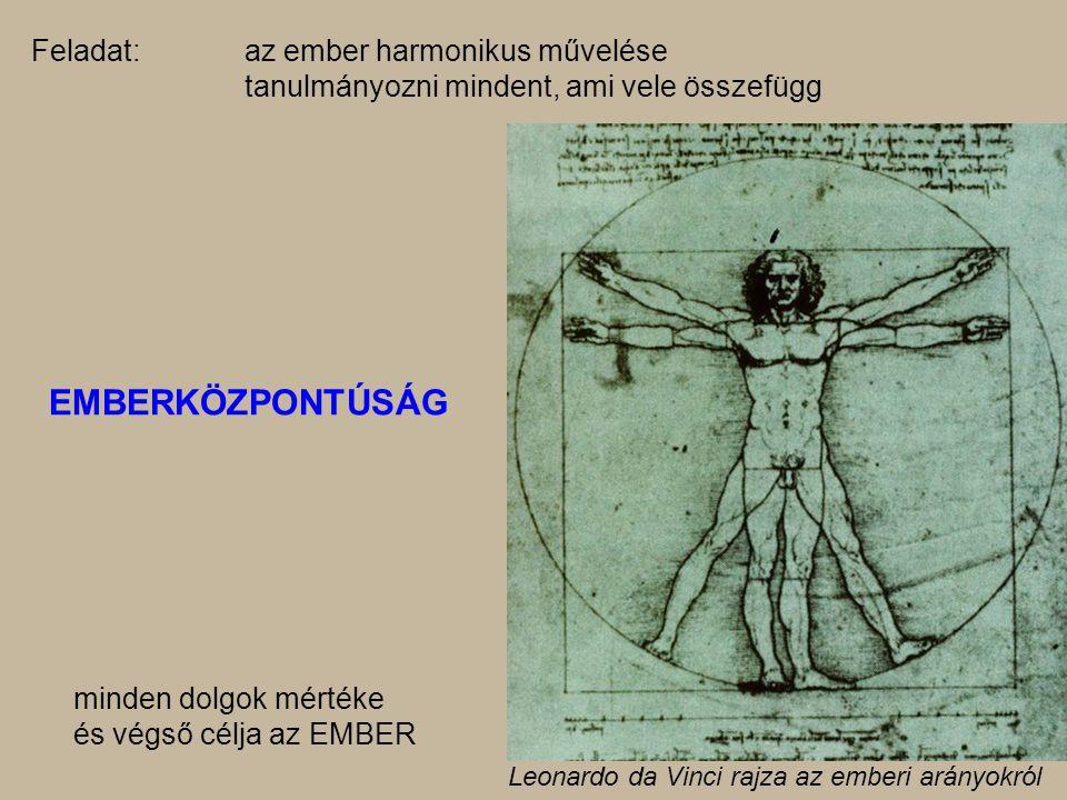 EMBERKÖZPONTÚSÁG Feladat: az ember harmonikus művelése