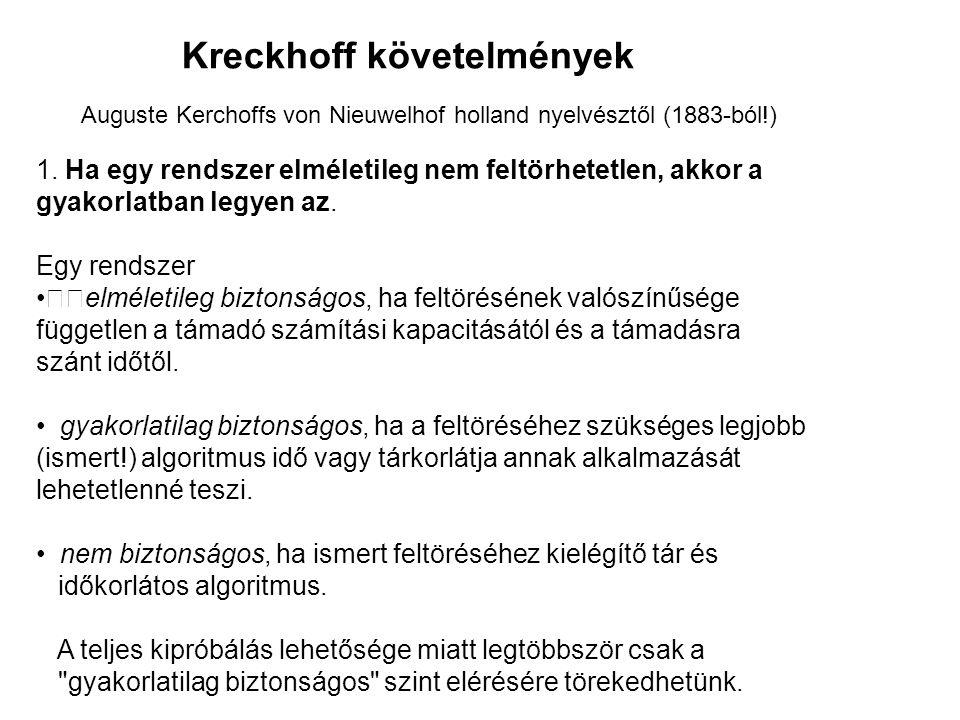 Kreckhoff követelmények