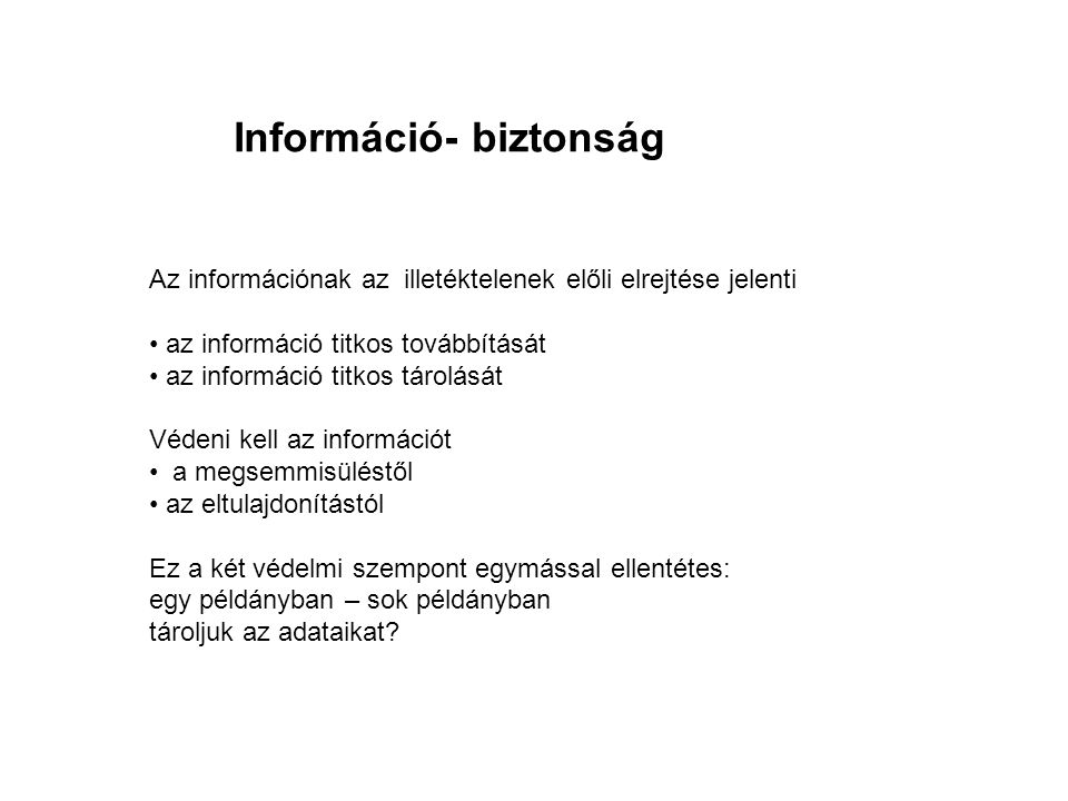 Információ- biztonság