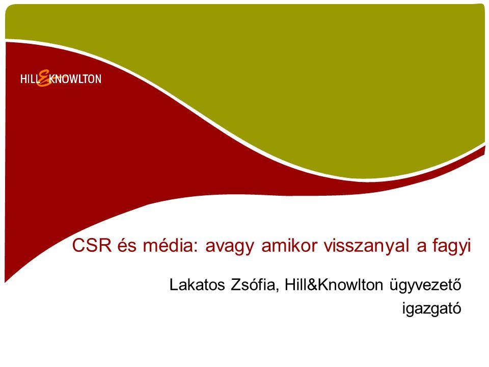 CSR és média: avagy amikor visszanyal a fagyi