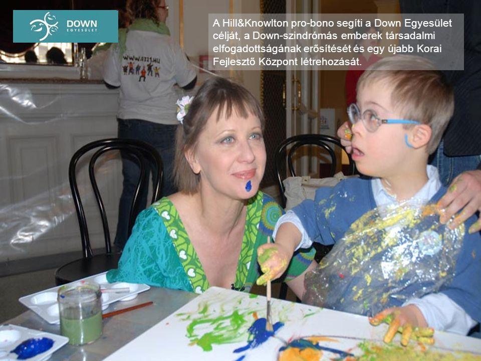 A Hill&Knowlton pro-bono segíti a Down Egyesület célját, a Down-szindrómás emberek társadalmi elfogadottságának erősítését és egy újabb Korai Fejlesztő Központ létrehozását.