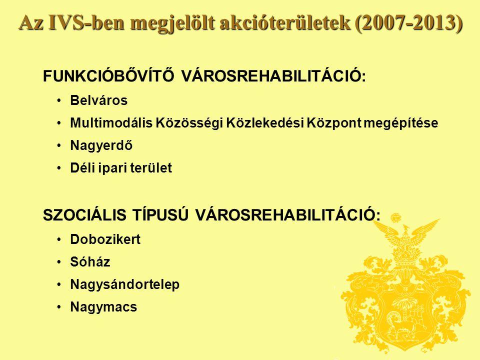 Az IVS-ben megjelölt akcióterületek (2007-2013)