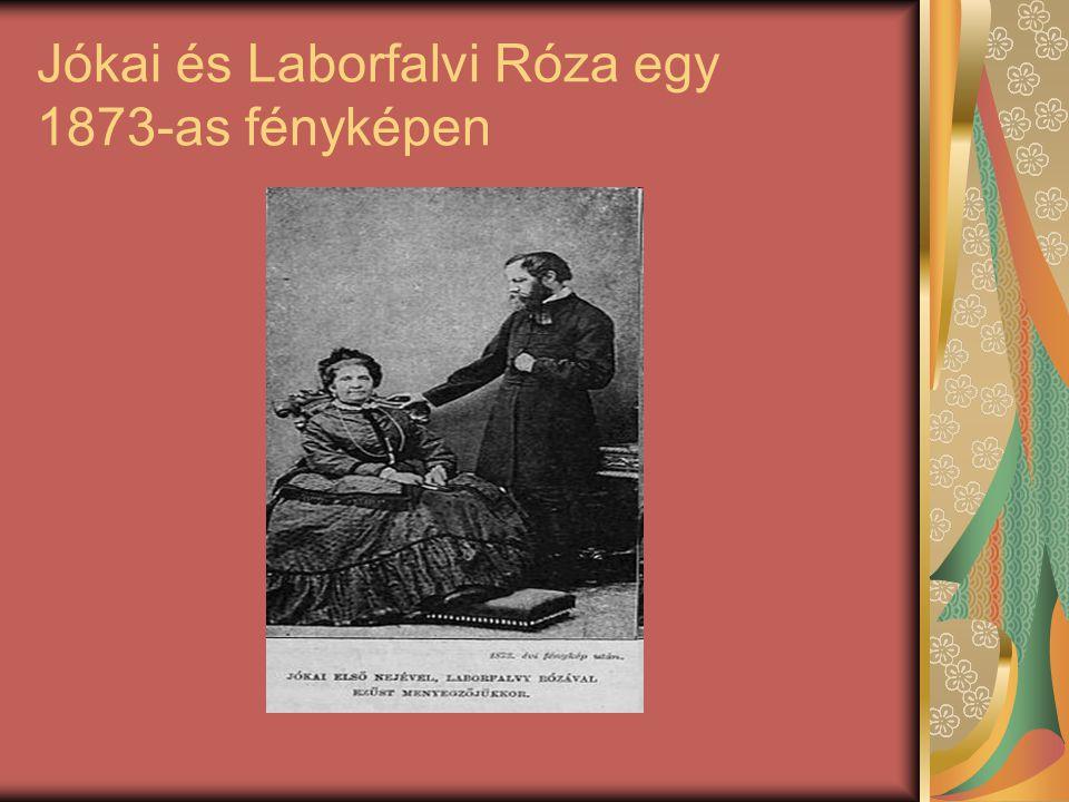 Jókai és Laborfalvi Róza egy 1873-as fényképen