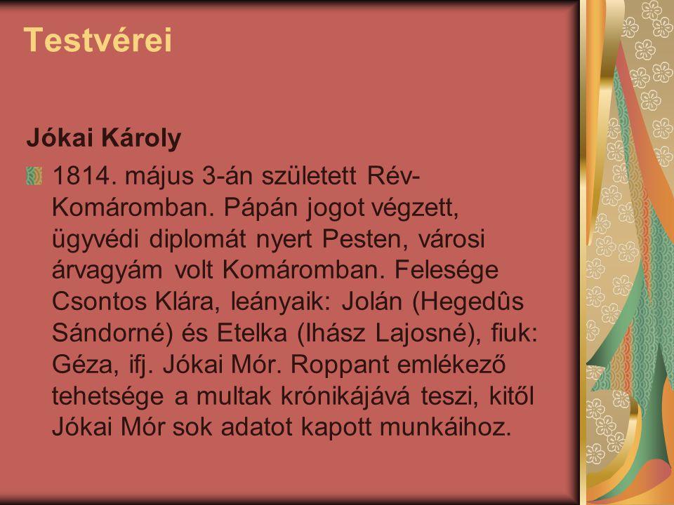 Testvérei Jókai Károly