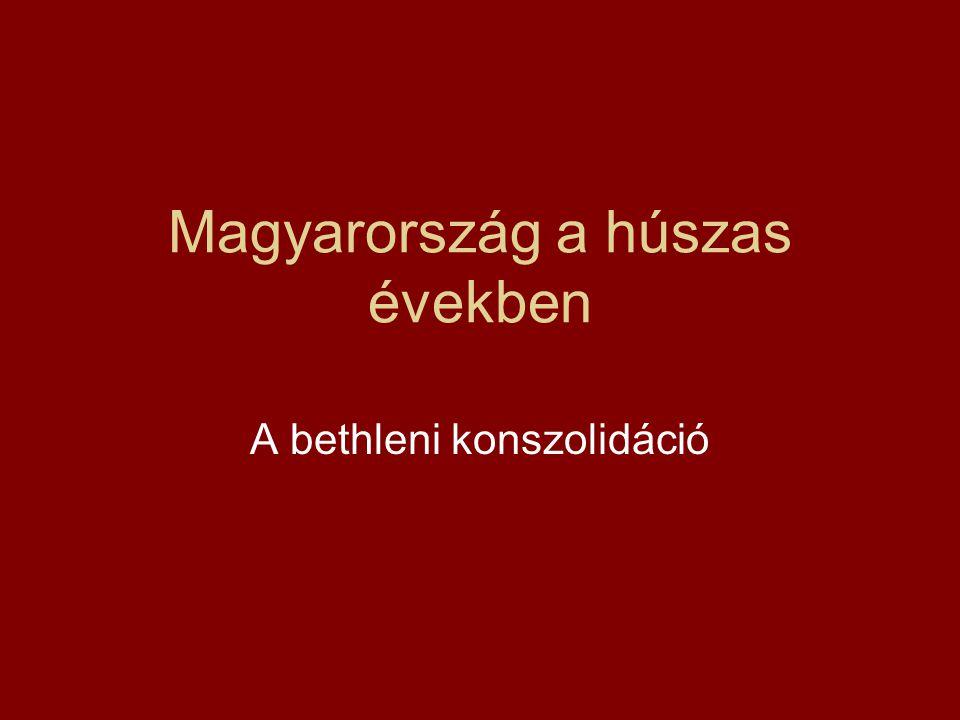 Magyarország a húszas években