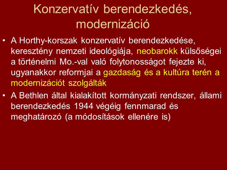 Konzervatív berendezkedés, modernizáció