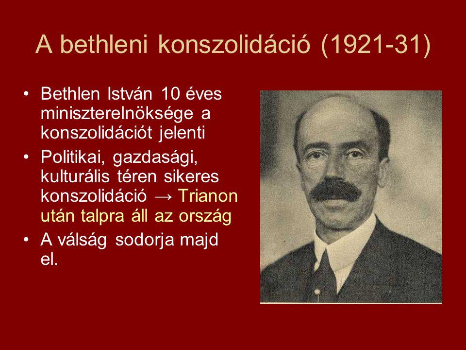 A bethleni konszolidáció (1921-31)