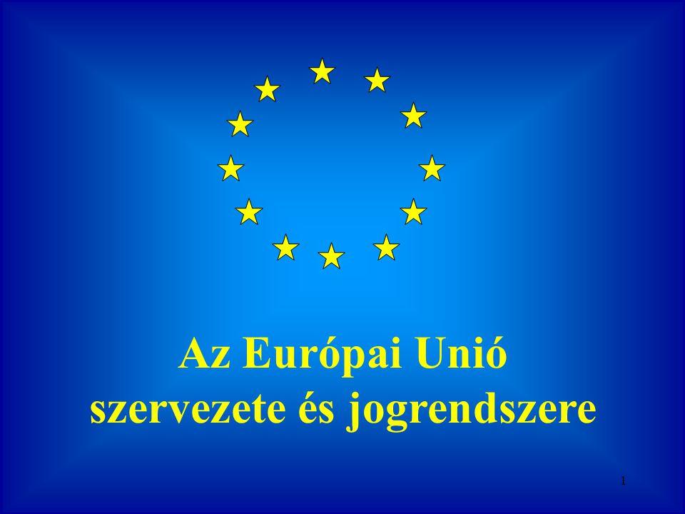 Az Európai Unió szervezete és jogrendszere