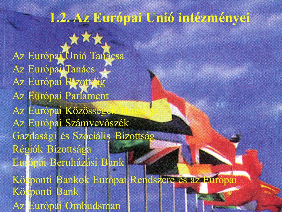 1.2. Az Európai Unió intézményei