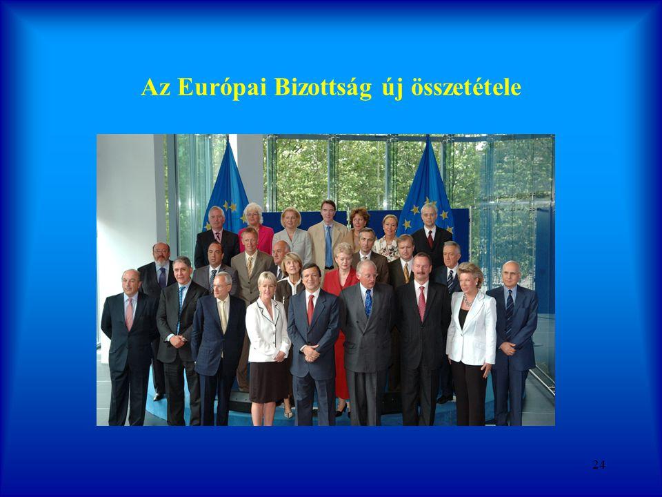 Az Európai Bizottság új összetétele