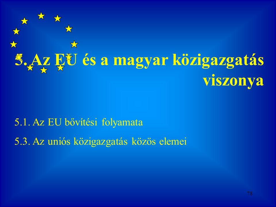 5. Az EU és a magyar közigazgatás viszonya