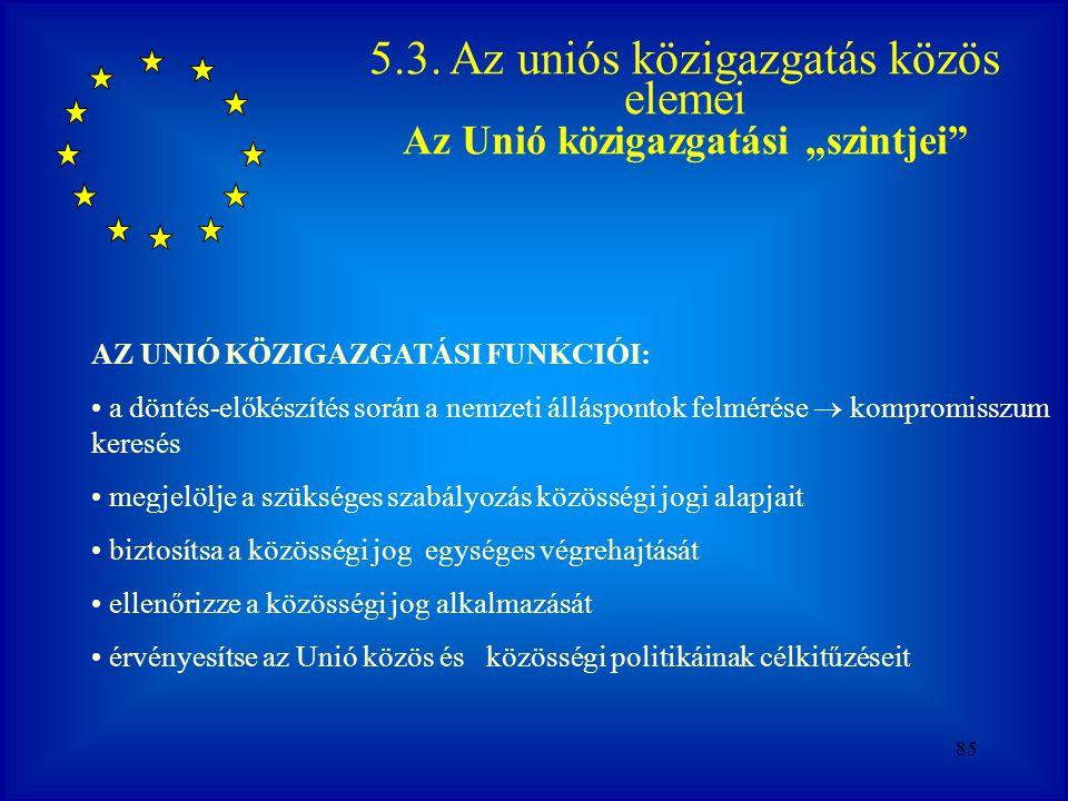 """Az Unió közigazgatási """"szintjei"""