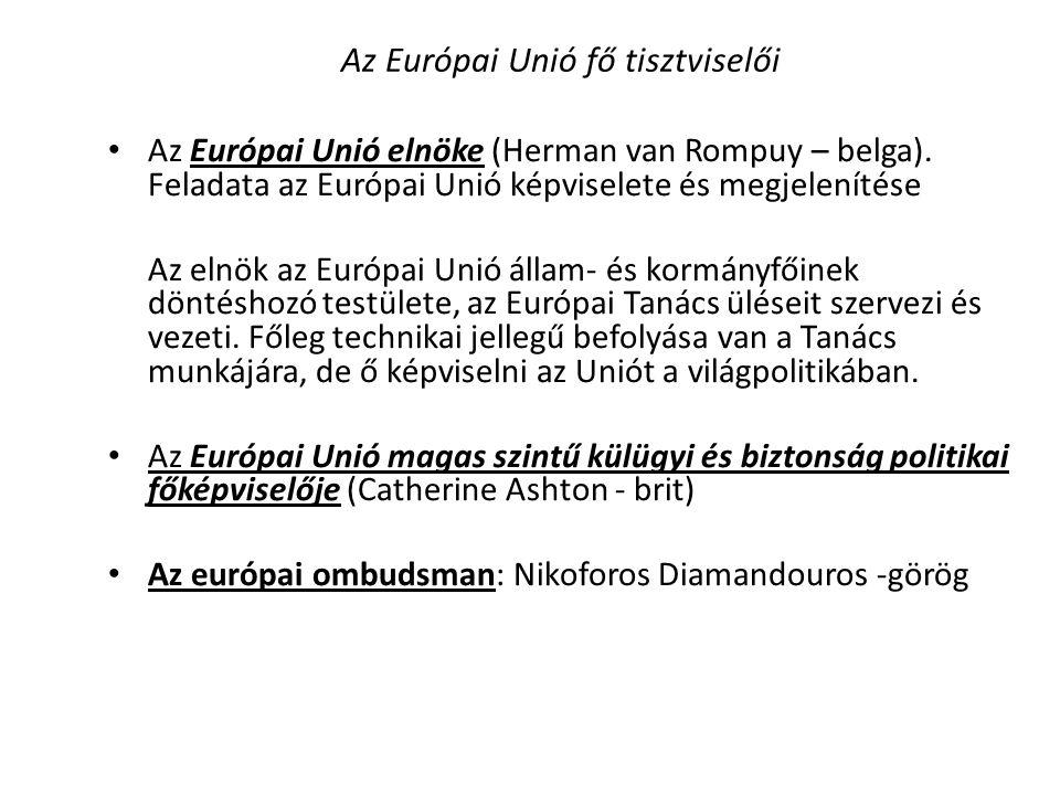 Az Európai Unió fő tisztviselői