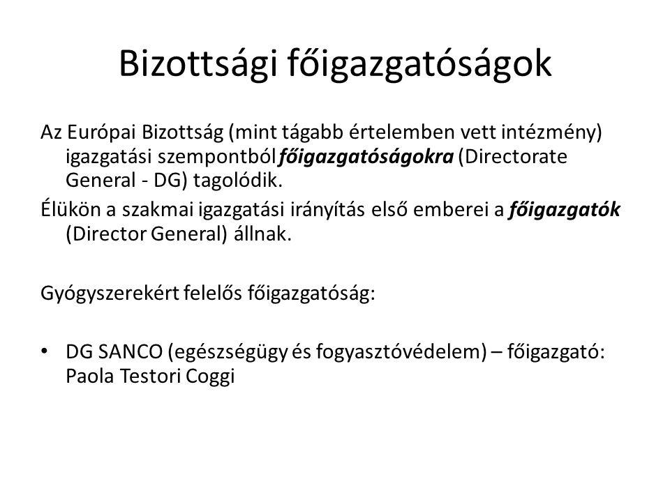 Bizottsági főigazgatóságok