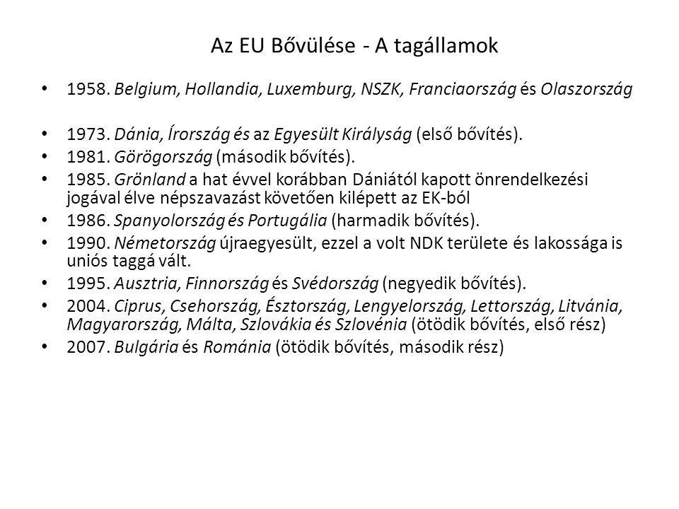 Az EU Bővülése - A tagállamok
